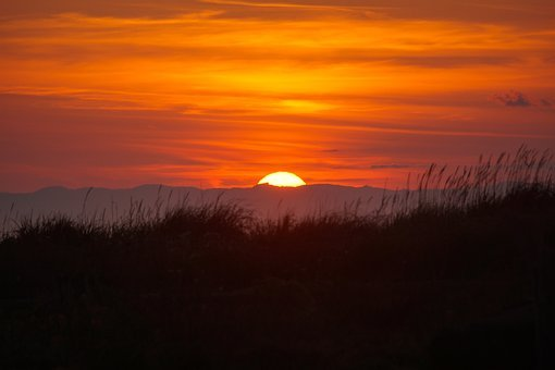 Sunset, Dungeness Spit, Beach, Coast, Coastline