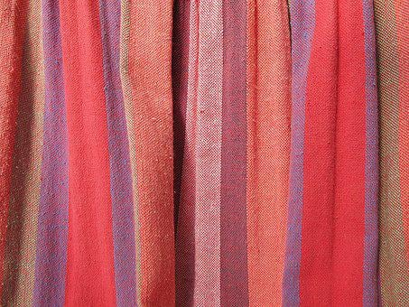 Fabric, Fold, Tissue, Curtain Fabric, Canvas, Red