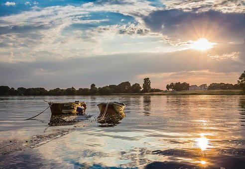 Boat, Loire, River, Nature, France, Based, Fishing