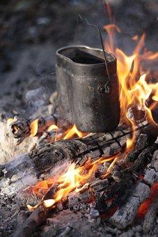 Bowler, Bonfire, Koster, Flame, Coals, Tourism