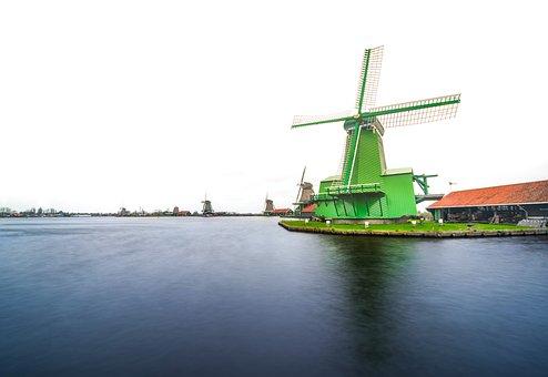 Windmill, Holland, Netherlands, Dutch, Countryside