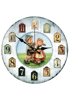 Clock, Children, Isolated, Time Indicating, Time