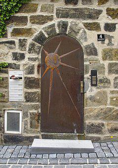 Stone Portal, Natural Stone, Motivtür, House Entrance