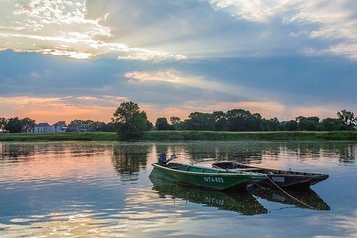 Boat, Loire, River, Nature, Pond, Fishing, Based