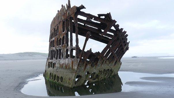 Ship, Wreck, Shipwreck, Pacific, Ocean, Sea, Iredale