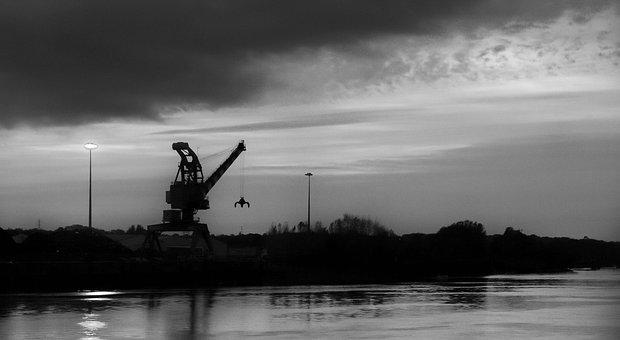 Crane, Industry, Wharf, Port, Dock, Industrial, Site