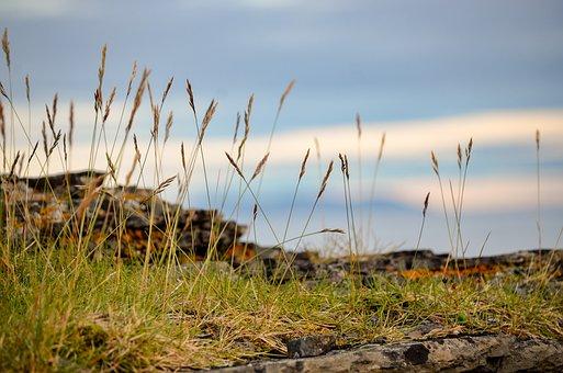 Hay, Sky, Landscape, Rock, On The Edge, Summer
