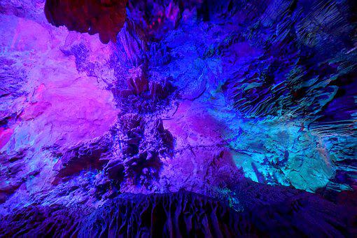 Reed Flute Cave, Guilin, Stalactite, Stalagmite
