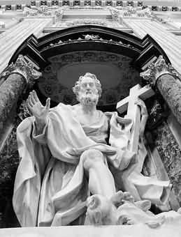 Rome, Lazio, Italy, San Giovanni In Laterano, Statue