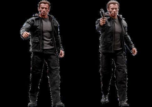 Figure, Terminator, Genisys T-800, Isolated