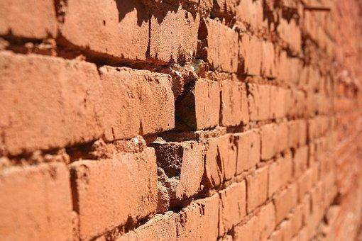 Brick, Wall, Hole, Cracked, Brick Wall