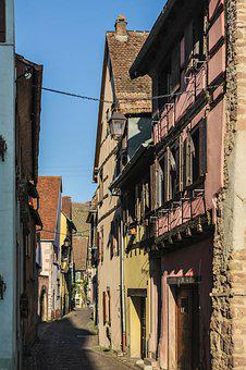 France, Alsace, Truss, Old Town, Alley, Kaysersberg
