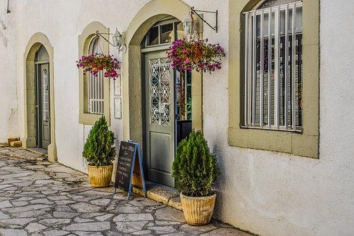Cyprus, Maroni, Coffee Shop, Vintage, Architecture