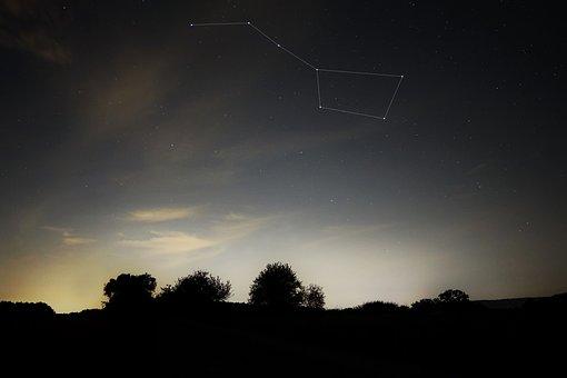 Big Dipper, Summer Night, Constellation, Star, Big Bar