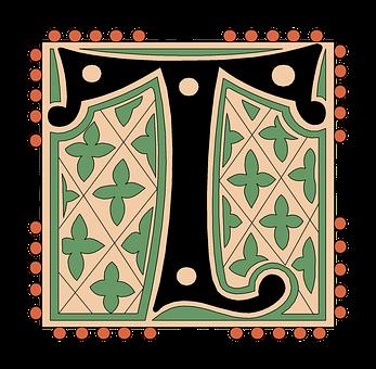 T, Alphabet, Vintage, Letter, Old, Antique, Calligraphy