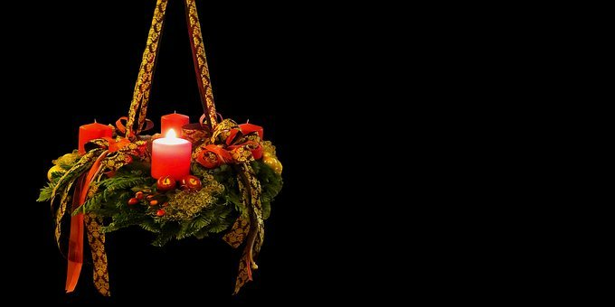 Advent, Christmas Time, Advent Wreath, 1advent