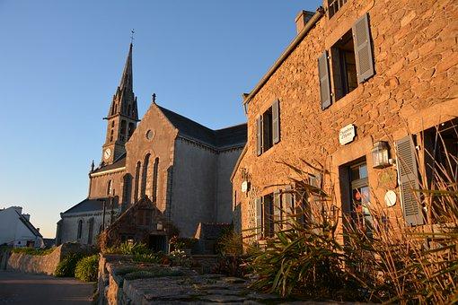 Isle Of Batz, Brittany, Church