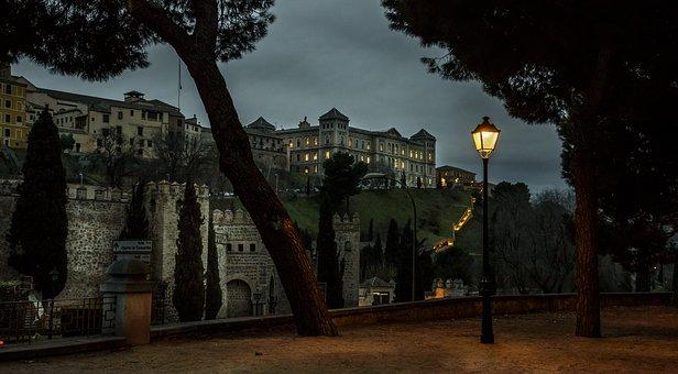 Toledo, Dawn, Spain, Old Town, Night