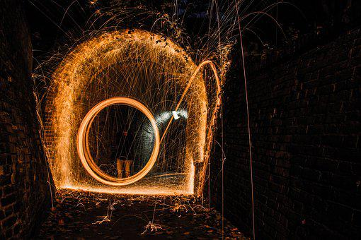 Wires, On, Cleaning, Floor, Fire, Spark, Element
