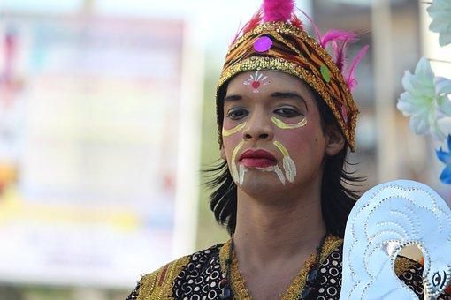 Man, Festival, Dusshera, Costume, Cosplay, Ethnic