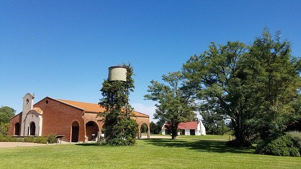 Winery, Sky, Blue, Field, Beautiful, Trees, Air, Pure