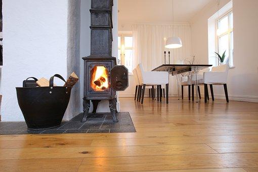 Fireplace, Cast Iron Fireplace, Scandinavian Design