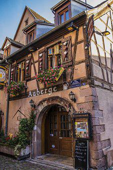 France, Alsace, Truss, Restaurant, Old Town