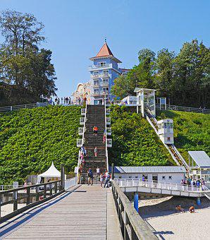 Ostseebad Sellin, Rügen Island, Free Stairs To The Pier