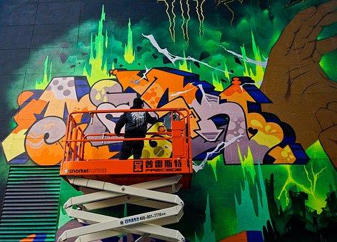 Graffiti, Wall, Hand-painted