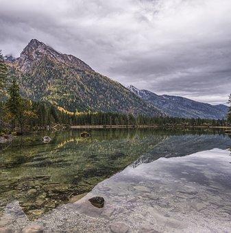 Hintersee, Mirroring, Reflection, Lake, Berchtesgaden