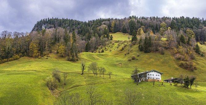 Maria Gern, Village, Alpine, Home, Hut, Beautiful