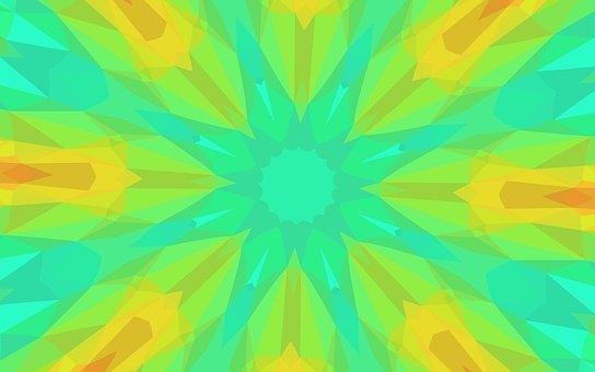 Kaleidoscope, Kaleidoscope Background, Graphic
