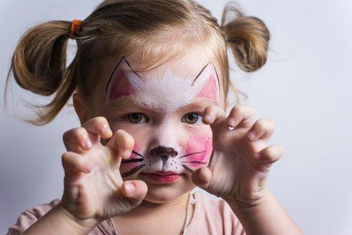 Baby, Cat, Kids, Cute, Aqua Make-up, Game, Pose