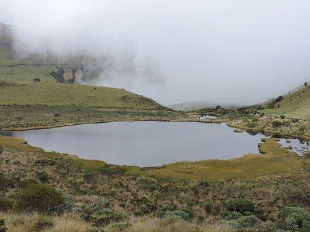 Laguna, Cold, Moor, Colombia, Caldas, Landscape, Nevado