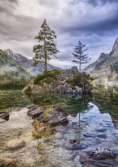 Hintersee, Ramsau, Berchtesgaden, Bavaria, Lake, Water