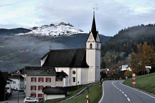 Highway, November, Church, Architecture, Buildings