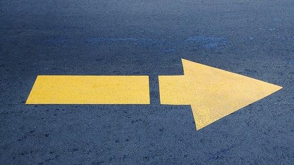 Signalling, Pavement, Arrow, Road Pavers, Street
