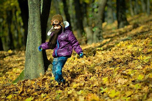 Boy, Autumn, Park, Photo, Leaves, Forest, Golden Autumn