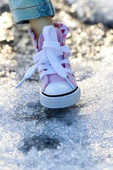 Shoe, Sneakers, Pink, Miniature