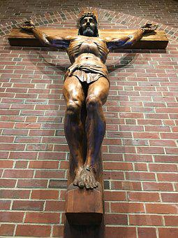 Crucifix, Jesus, Church, Religion, Christianity