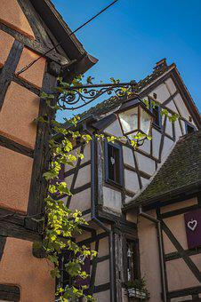 France, Alsace, Truss, Old Town, Riquewihr