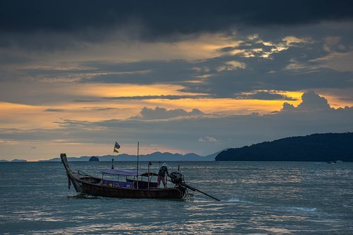 Ship, Sea, Thailand, Sky, Cruise, Wave, Water