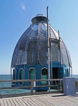 Diving Bell, Sellin, Sea Bridge, Rügen Island