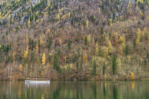 Königssee, Ship, Boot, Bavaria, View, Berchtesgaden
