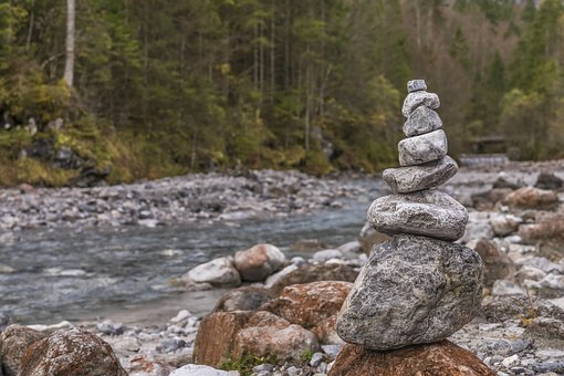 Cairn, River, Stones, Nature, Stone Tower, Water