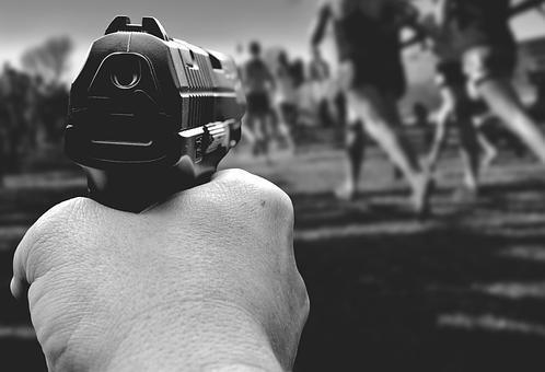 Symbol Picture, Gunman, Rampage, Risk, Terror