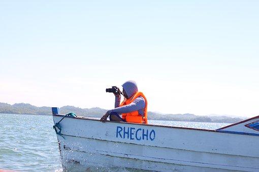 Photographer, Sea, Ocean, Boat, Boat Deck, Traveller