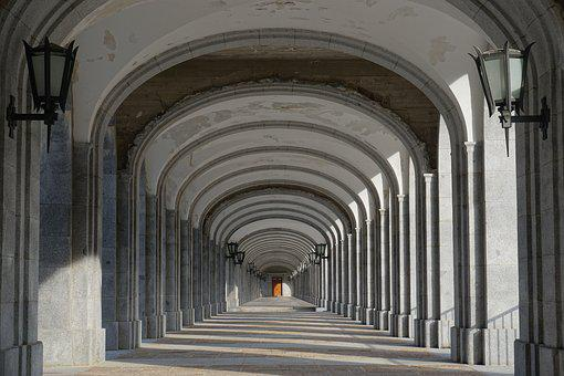 Gang, Cloister, Monastery, Vault, Architecture, Archway