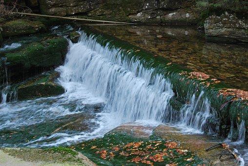 Szklarka, Waterfall, Cascade, Landscape, Water