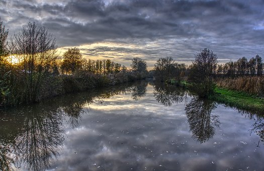 Water, Mirroring, Reflection, Sky, Clouds, Nature